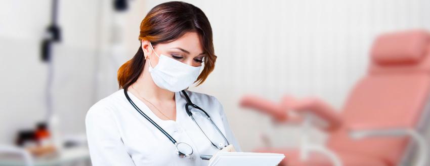 Консультация и осмотр гинеколога